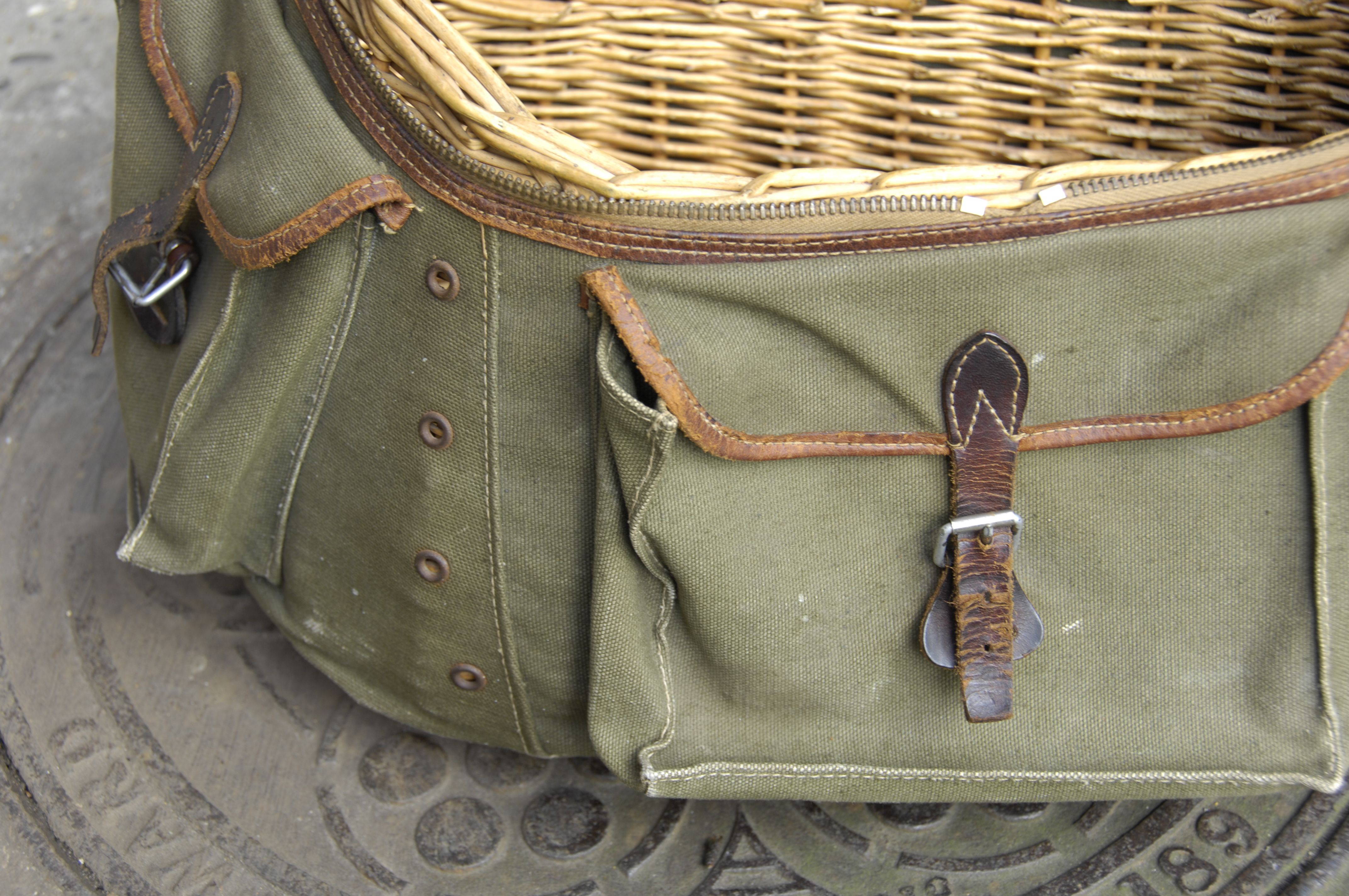 Bicycle Luggage 2 Sologne Fishing Creel On 1946 Porteur