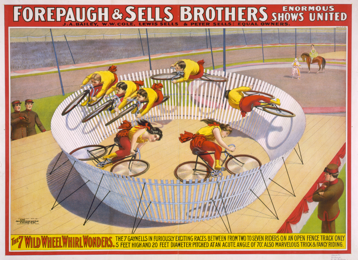 The Wall of Death… on a bicycle!   Vintage Bicycle